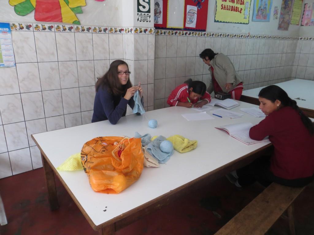 17 Weben - die Kinder sind in der Schule